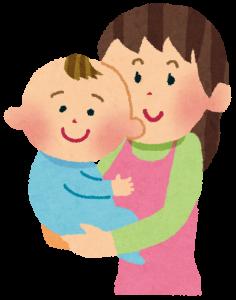 断乳する母親と赤ちゃん