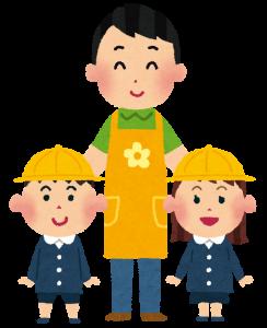 幼稚園の保育士と園児