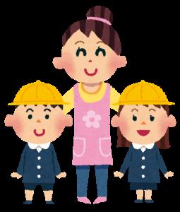 幼稚園の保育士さんと子供