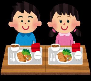 子供が食べる給食