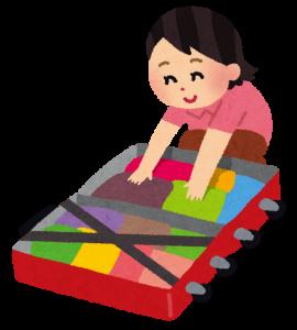 赤ちゃんと旅行の持ち物