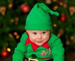 クリスマスの赤ちゃんの衣装