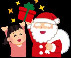 女の子にクリスマスプレゼント