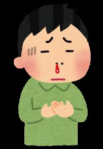 鼻血を出す子供