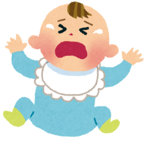 赤ちゃんが実家で泣く